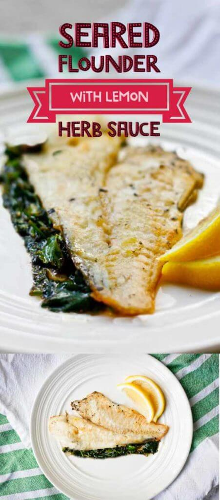 Flounder with Lemon Herb Sauce- Simple, Easy, Delicious, Ready in 10 minutes