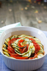 Vegan Ratatouille Tian- The perfect way to use summer veggies