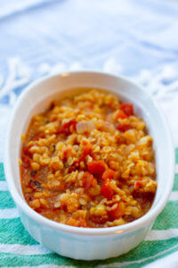 Vegan Masala Spiced Lentils - Red Lentils cooked in Indian Spices