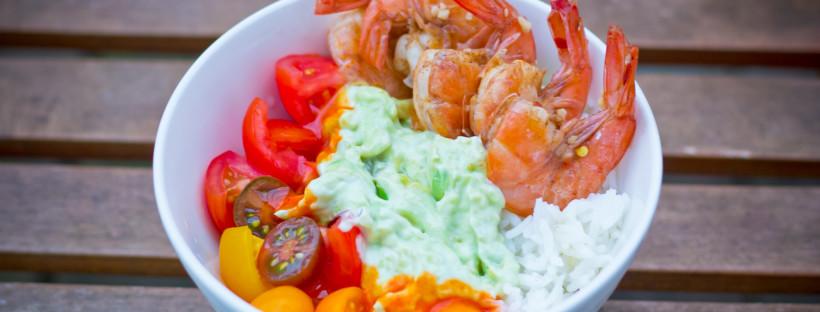 Spicy Shrimp + Guacamole