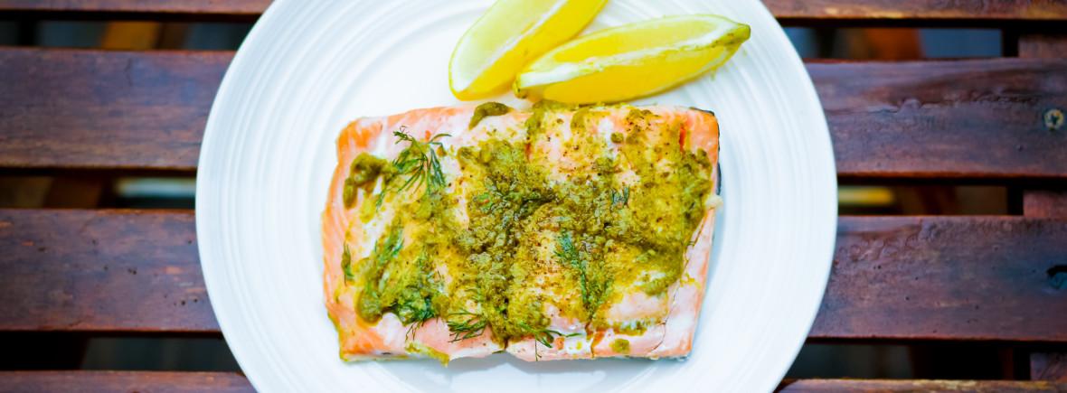 Basil Pesto Salmon