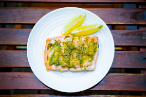 Basil Pesto Salmon