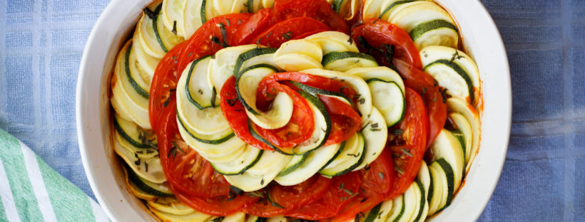 Vegan Ratatouille Tian- The perfect way to use summer veggies