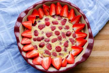 Strawberry Raspberry Clafoutis
