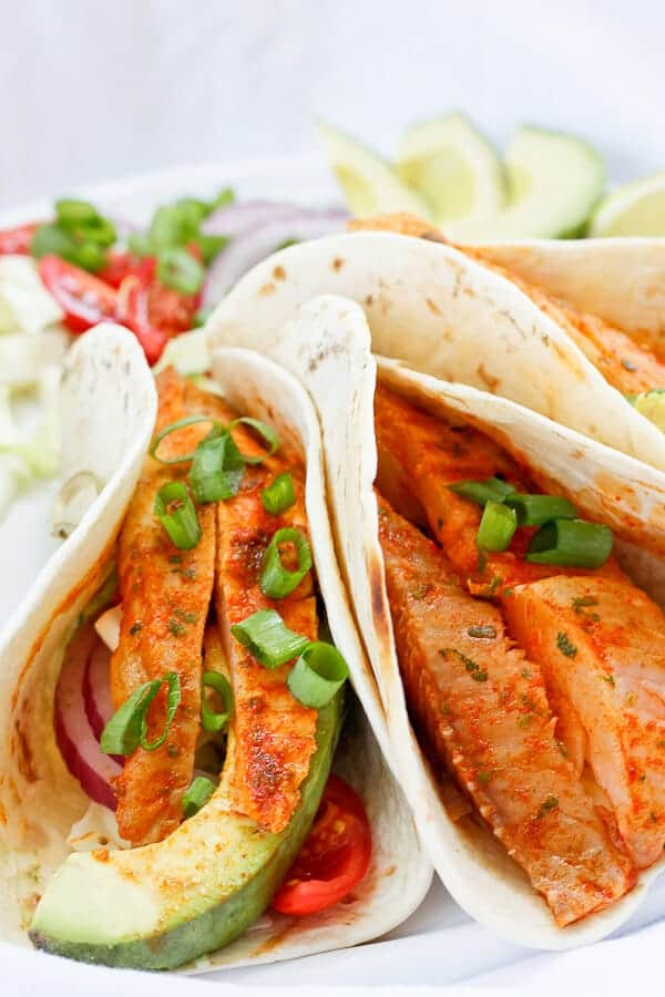 Grilled Spicy Fish Tacos
