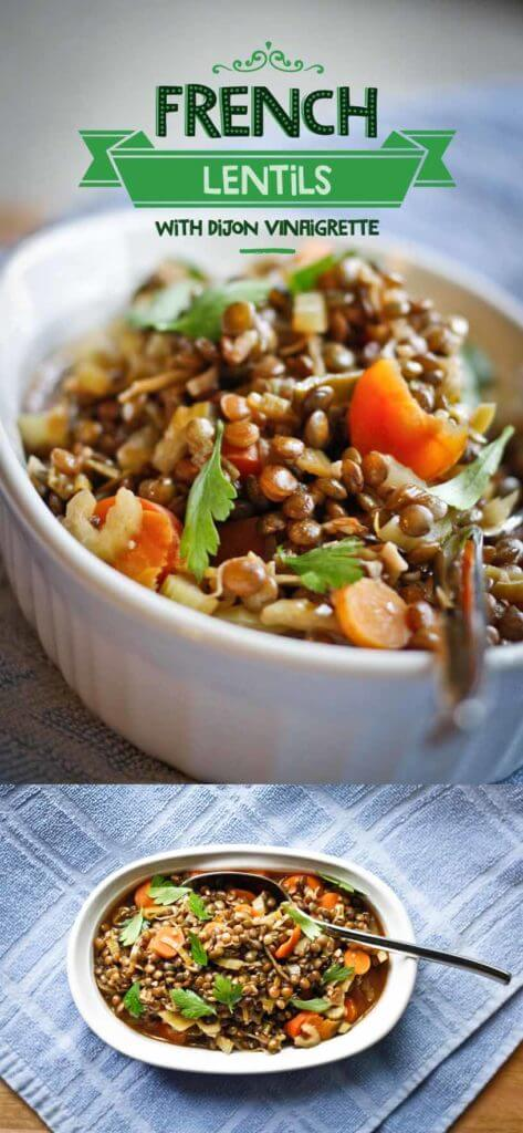 French Lentils with Dijon Vinaigrette- Vegan, Easy to prepare, & Perfect for a side dish or main course
