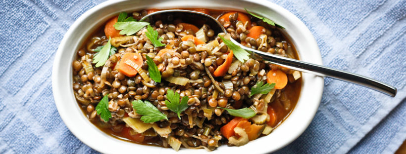French Lentils with Dijon Vinaigrette