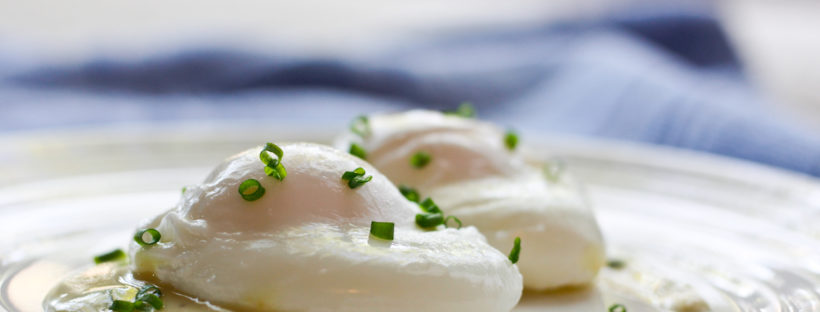 Perfectly Poached Eggs with Dijon Sauce- No egg poacher needed, no vinegar needed, no swirling the water around the eggs. Easy. Fast. Delicious.