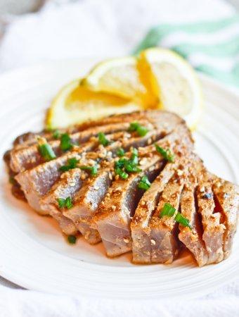 Sesame Seared Ahi Tuna with Ginger Soy Sauce