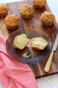 Zucchini & Goat Cheese Muffins - From The Purple Ladle
