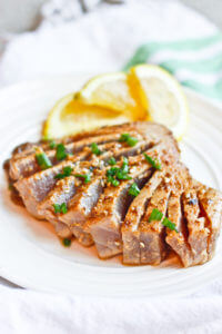 Sesame Seared Ahi Tuna with Ginger Soy Sauce