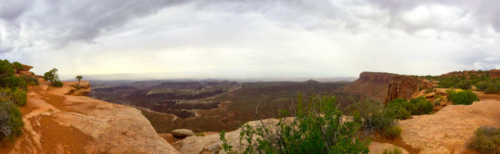 Full Hikers are Happy Hikers- Grand View Point Trail at Canyonlands