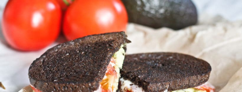 "This Stinky French Grilled Cheese with Avocado is for the food adventurer! This tasty grilled cheese uses a washed rind ""stinky cheese,"" avocado, and tomato in dark pumpernickel bread for a flavor explosion!"