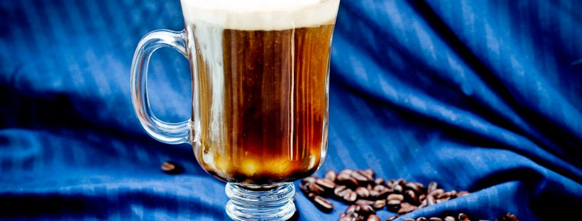 This Kentucky Bourbon Coffee is a Southern take on an Irish coffee, and is the perfect drink to keep you warm this winter. This caffeinated cocktail is made with freshly brewed coffee, coffee liqueur, bourbon, and cream.