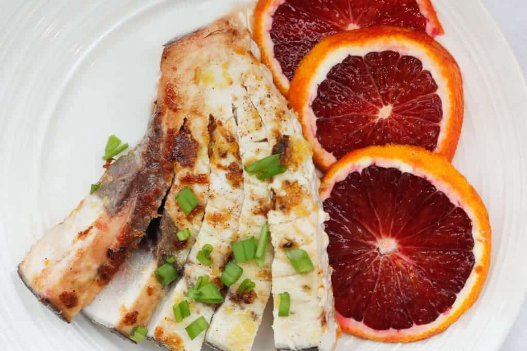 This easy Citrus Seared Swordfish is coated in citrus zest, seared to perfection, and finished with fresh herbs and freshly squeezed citrus juice.