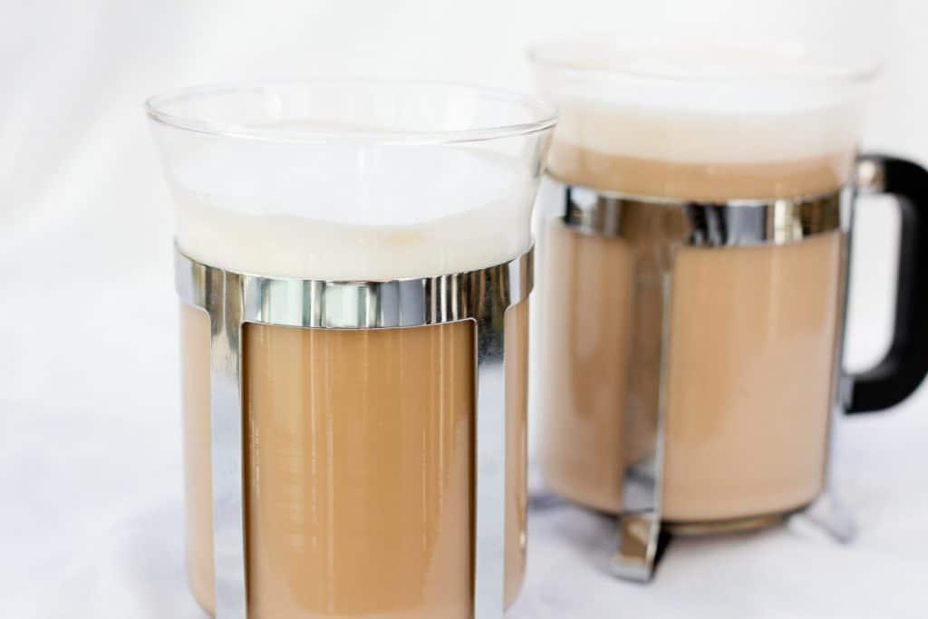 Vanilla French Press Cappuccino  Champagne Tastes