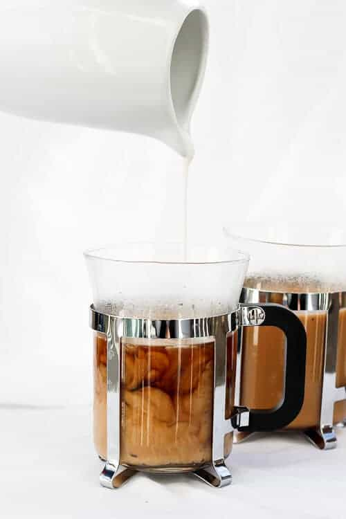 This vegan Vanilla French Press Coffee is flavored with vanilla extract, is ready in minutes, and includes a step-by-step tutorial on How to Make French Press Coffee.