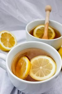 """This vegan-friendly Mint Tea Hot Toddy hot cocktail is the perfect """"get well"""" drink for for cold winter days."""
