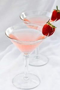 This sophisticated spring cocktail is carefully crafted with a dash of bitters, a splash of rhubarb simple syrup, and of course-- gin. champagne-tastes.com