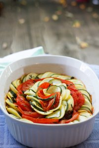 This Ratatouille Tian is a twist on the French classic, and is the perfect way to use flavorful summer vegetables.