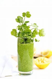 Glowing Green Detox Smoothie - from Rhubarbarians