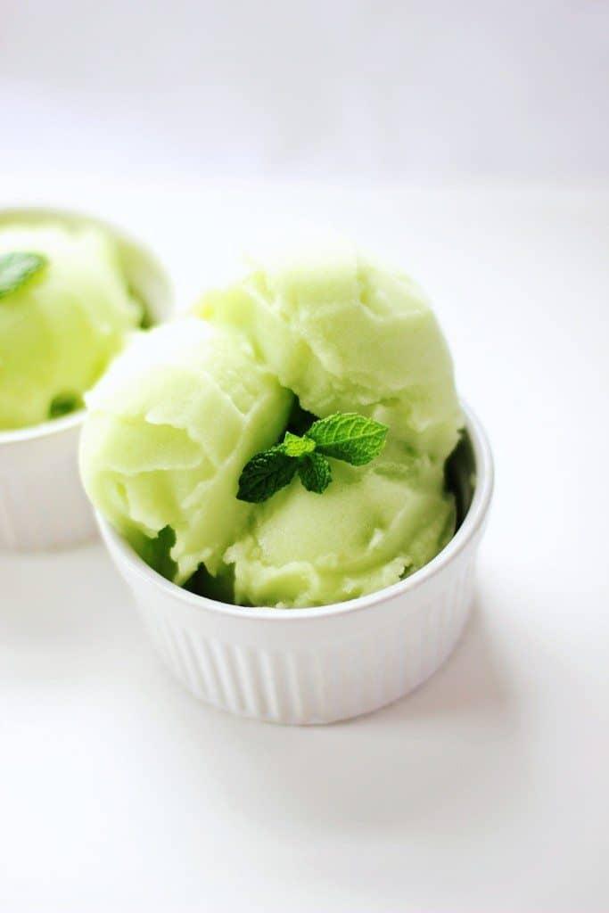Honeydew Sorbet - from I Heart Vegetables