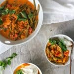 This vegan-friendly Vegetable Korma is an easy, homemade curry that uses easy-to-find ingredients, and a simple step-by-step recipe.
