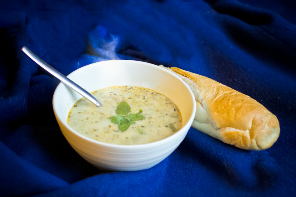 Clam Chowder with Smoked Oysters