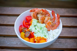 Easy Spicy Shrimp Rice Bowls in 20 Minutes!