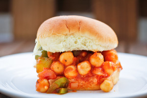 This easy-to-make vegan Chickpea Sloppy Joe is delicious, simple, and takes about 15 minutes start to finish.