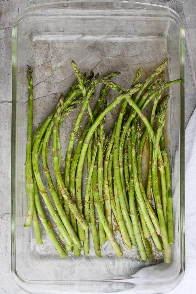 Asparagus in a Baking Dish
