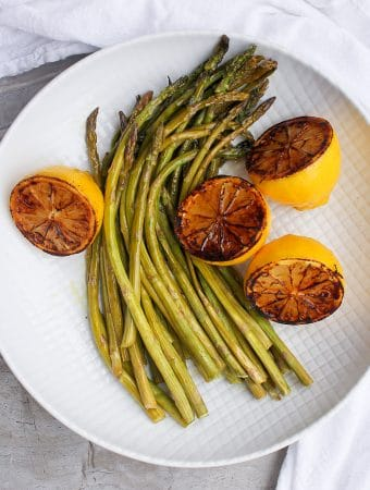 Oven-Roasted Asparagus with Charred Lemon