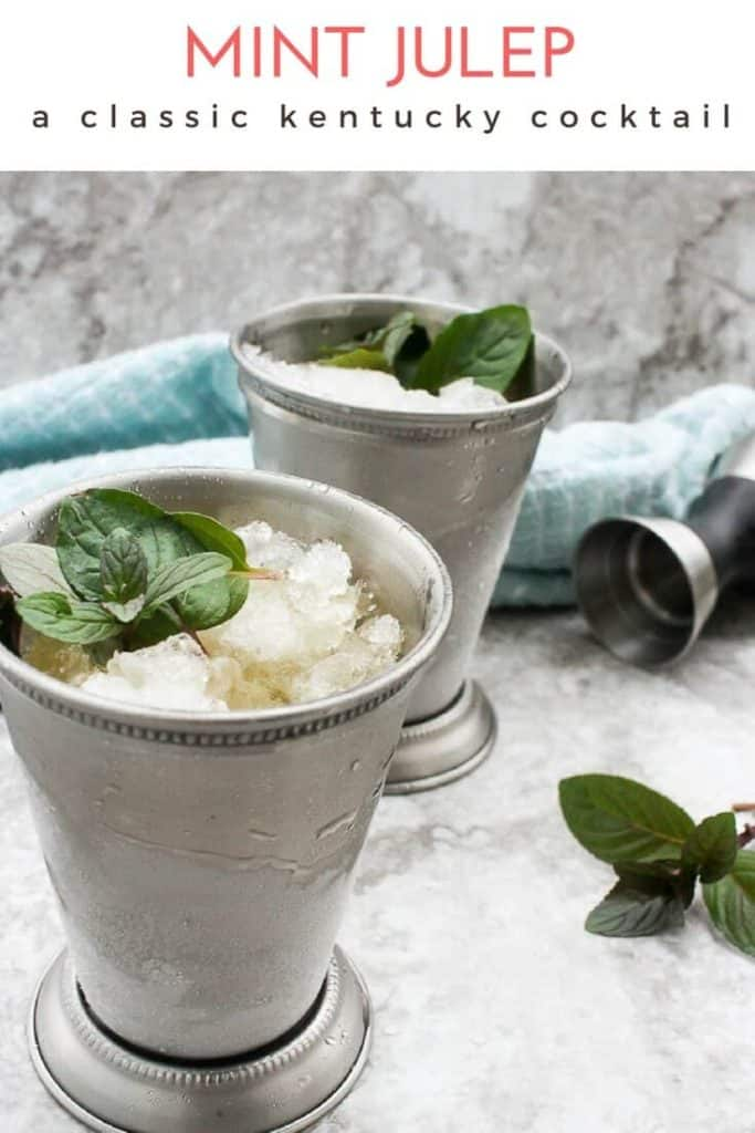 Love bourbon? Learn how to make a mint julep from scratch! This recipe for the classic Kentucky cocktail is perfect for hot summer days and Derby day!