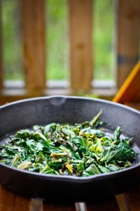 Easy Braised Kale with Apple Cider Vinegar- 5 ingredients, less than 10 minutes