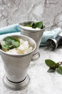 How to Make a Mint Julep- Finished Julep