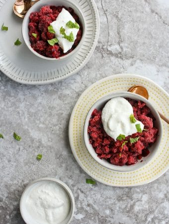 Granita Recipe with Berries + Whipped Ricotta