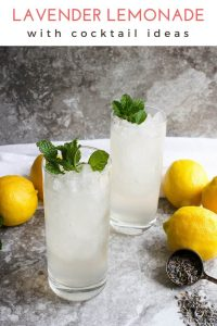 This quick and easy Lavender Lemonade is the perfect way to enjoy your lemonade in STYLE! Add a little gin or vodka-- and you've got yourself a light summer cocktail!