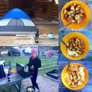 Glamping at Yellowstone- Chana Masala / Chickpea Curry