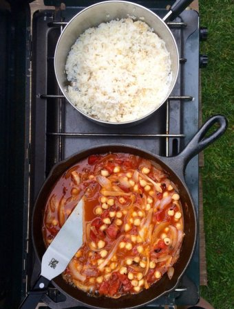 Glamping: Chana Masala (Chickpea Curry)