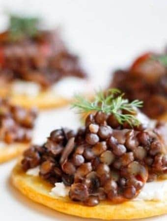 Beluga Lentil Caviar Appetizer