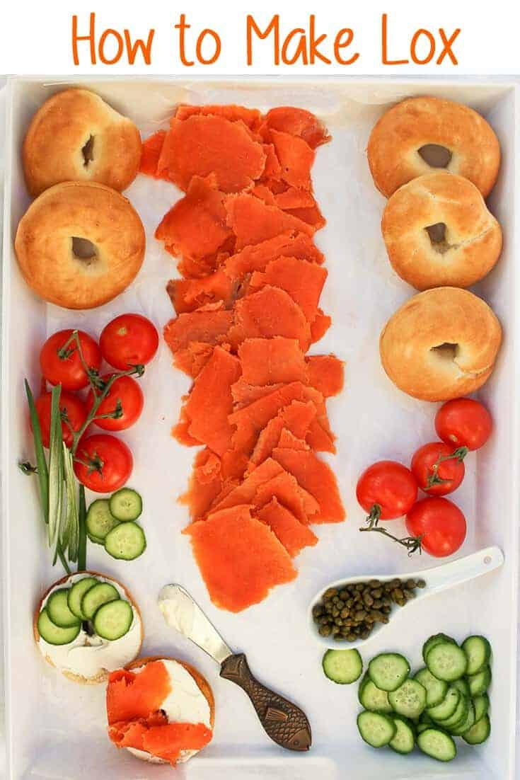 Do you love lox?  Did you know it's easy to make it yourself at home?  This How to Make Lox tutorial will walk you through making your own lox, step-by-step! #lox #seafood #salmon #breakfast