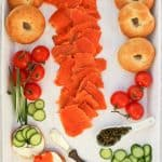 Bagel and lox platter (how to make lox)