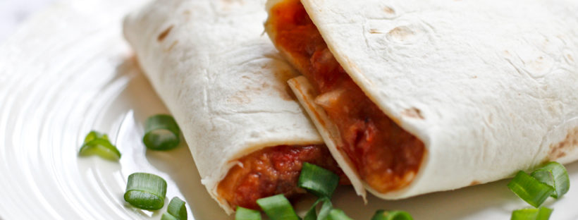 Glamping: Vegan Bean Burritos with Chipotle Peppers. Ready in about 5 minutes, Easy to prepare, Packed with Protein