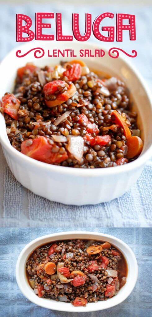 Vegan Black Beluga Lentil Salad- Easy to prepare, 10 Ingredients