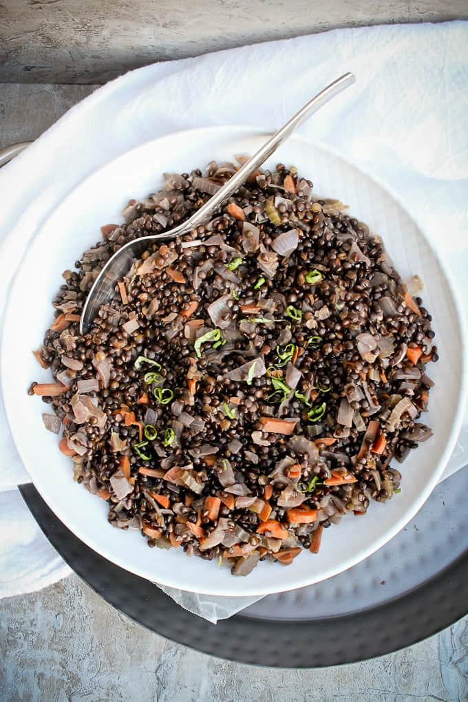 Beluga Lentil Salad Easy Vegan Side Dish