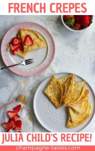 This easy French Crêpe Recipe is a adapted from Julia Child's basic crêpe recipe, and will walk you through how to make paper-thin French Crêpes at home!