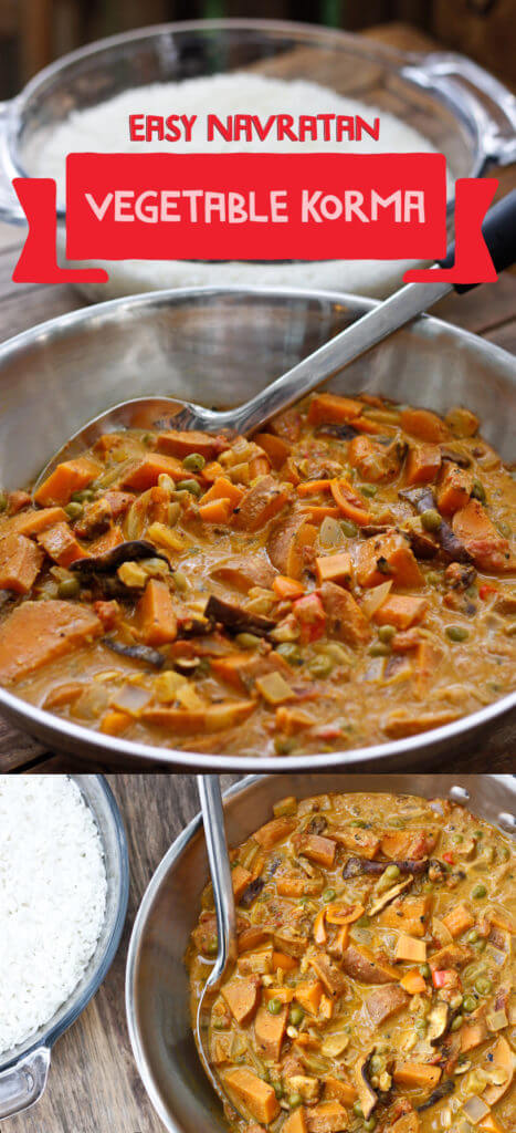 Vegan Navratan Vegetable Korma- Easy to Find Ingredients, Step by Step Directions