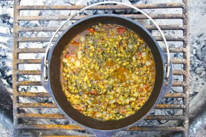 Glamping: Vegan Red Lentils with Spinach | Palak Dal