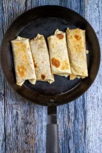 Toast Burritos on Both Sides