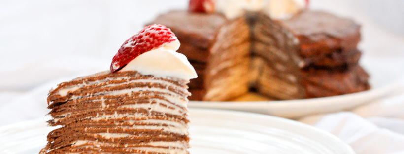 Easy Chocolate Crêpe Cake- Simple to Prepare and Delicious. No Baking!